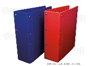 Expandable post binders made of heavy duty poly.