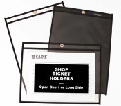 Ticket holders shop ticket job ticket vinyl holders c-line products plastic stitched sheet protectors