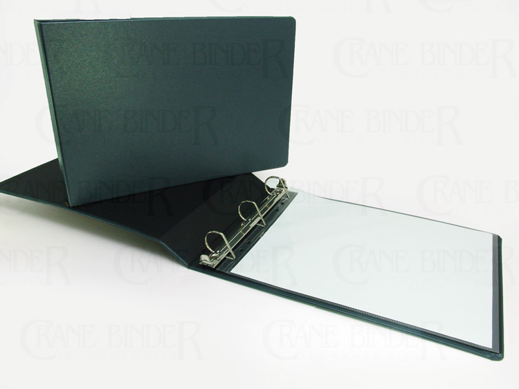 11x14 turned edge,hard cover 3 ring binders from Crane Binder Technologies ©