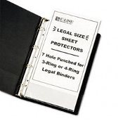 Heavy Weight Poly Sheet Protectors Legal Size, 14x8.5 50 ct