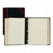 Wilson Jones WLJ 39715 black red minute book binder