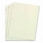 "Wilson Jones WLJ 90110 ivory super linen ledger letter paper 3/16"" x 7/16"" rectangular posts"