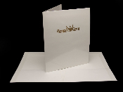 Stamped white laminated 2 pocket folders