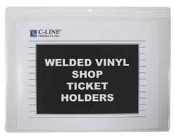 C-Line 80129 12x9 vinyl shop ticket holder