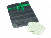 Business card holders for 3 ring binders. Sheet protectors with business card slots. 10 per page with 20 views.
