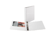 Vinyl view 3 ring binder 1 inch capacity white