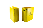 Expandable post binder in yellow poly 4 inch to 6 inch.