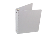 Aluminum ring binder, half page, small, 8.5 x 5.5, 1 inch, round ring, 3 ring, Crane Binder small binder