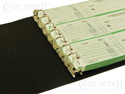7 ring check binder 3-on-a-page checks. 7 ring business check binder.